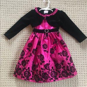 Nannette Magenta Dress, Size 2T